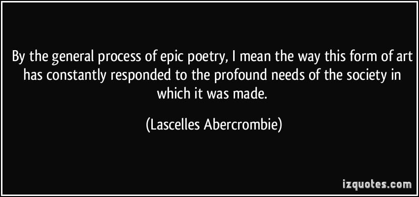 Epic Poem quote