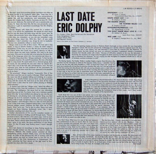 Eric Dolphy's quote