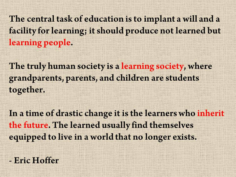 Eric Hoffer's quote #7