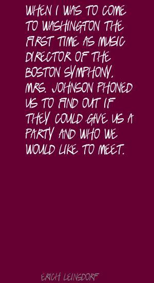 Erich Leinsdorf's quote #1