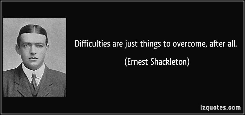 Ernest Shackleton's quote