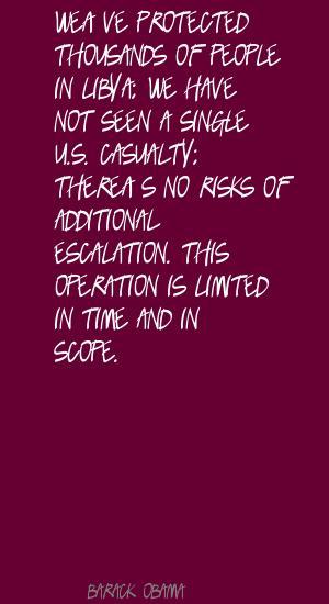 Escalation quote #2