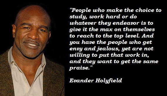 Evander Holyfield's quote #5