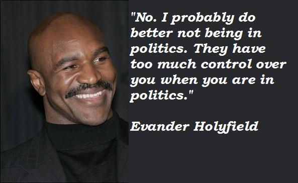 Evander Holyfield's quote #1