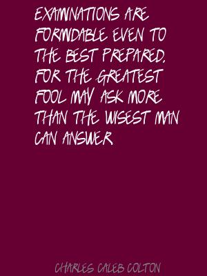 Examinations quote