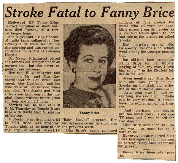Fanny Brice's quote