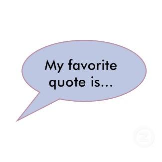 Favorites quote