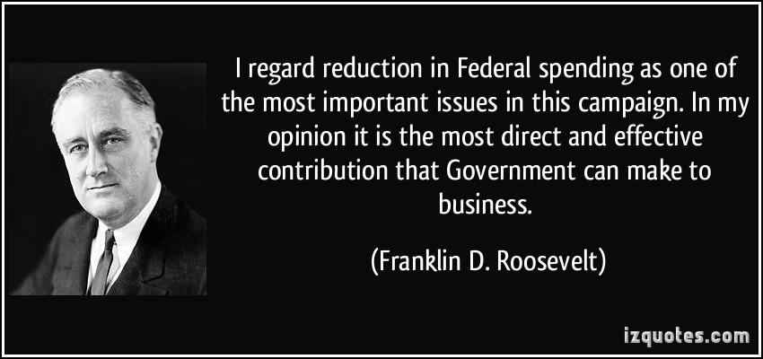 Federal Spending quote #1