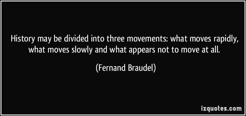 Fernand Braudel's quote