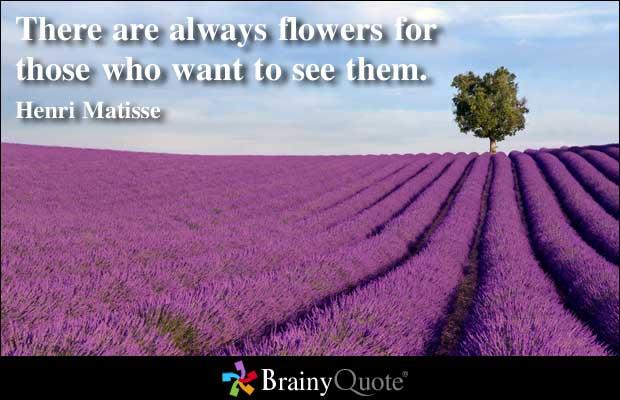Flowering quote #1