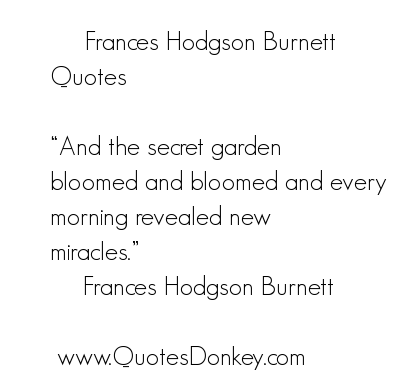 Frances Hodgson Burnett's quote