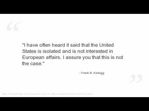 Frank B. Kellogg's quote #5