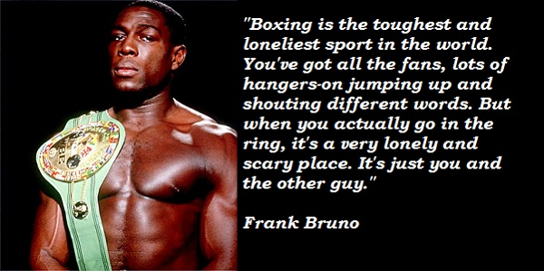 Frank Bruno's quote #1