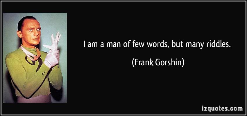 Frank Gorshin's quote