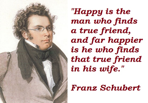 Franz Schubert's quote #1