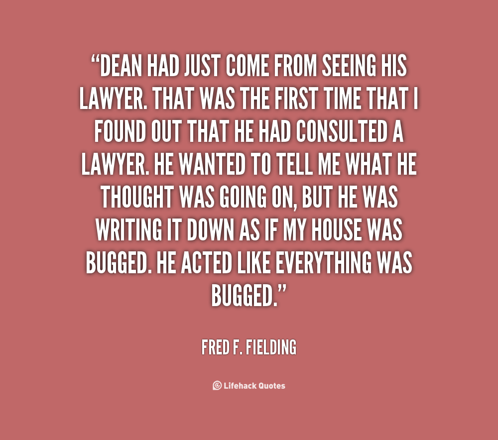 Fred F. Fielding's quote #2