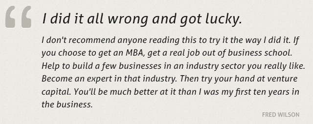 Fred Wilson's quote #7