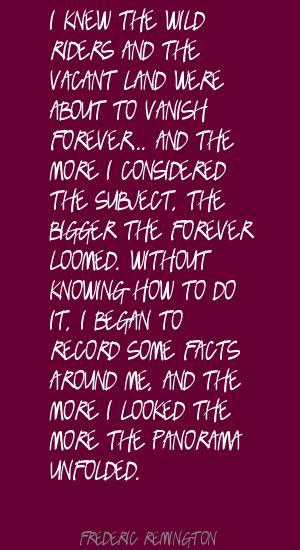 Frederic Remington's quote #1