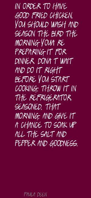 Fried Chicken quote #1