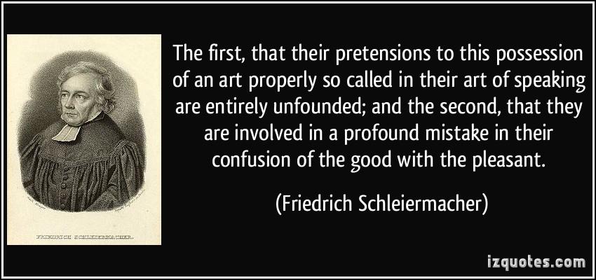 Friedrich Schleiermacher's quote