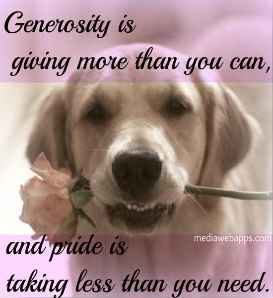 Generosity quote #3
