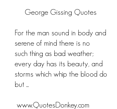 George Gissing's quote