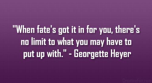 Georgette Heyer's quote