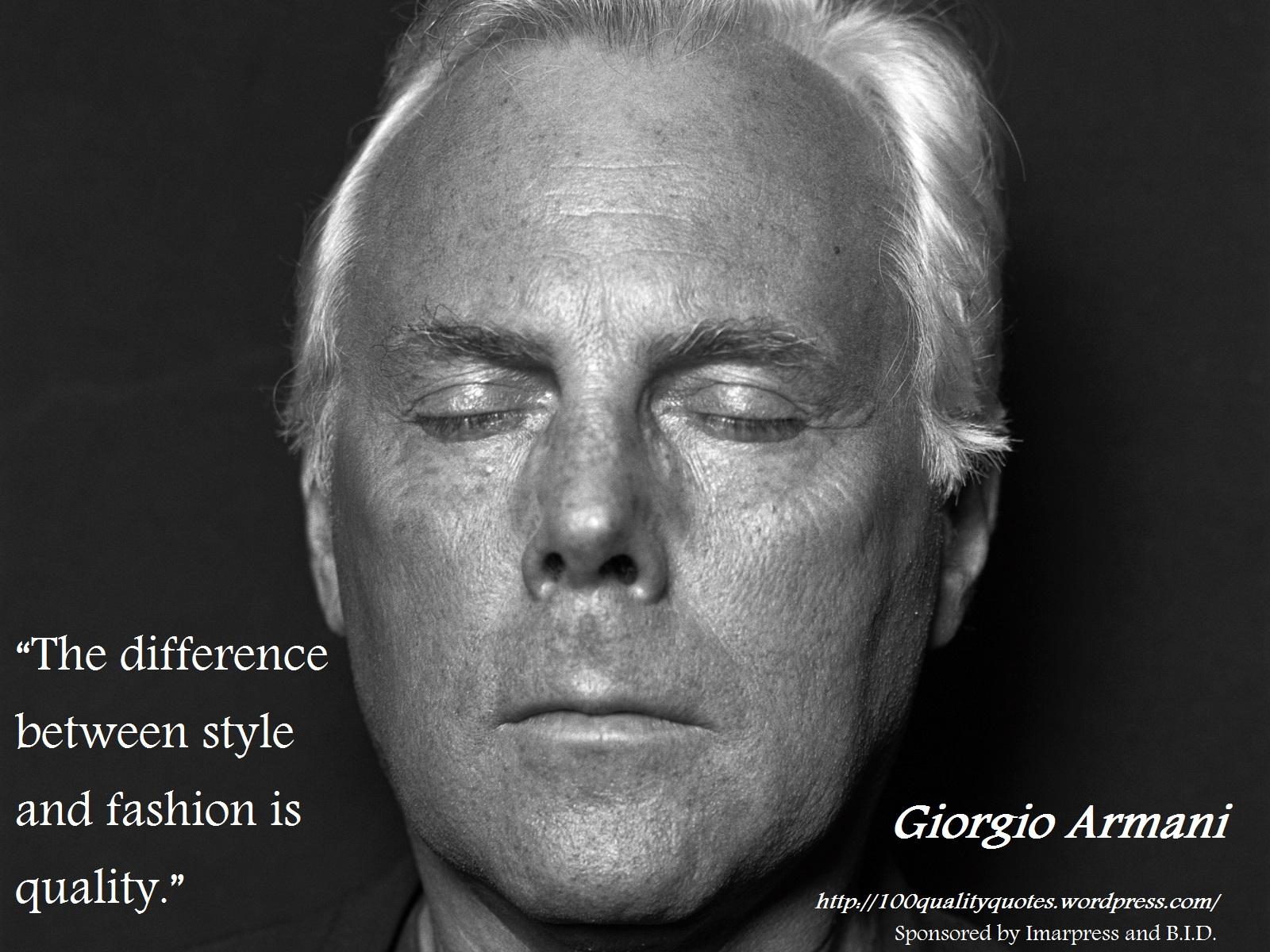 Giorgio Armani's quote #2