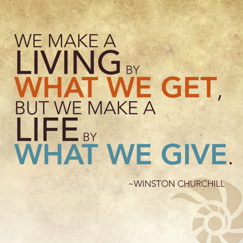 Giving Back quote #1