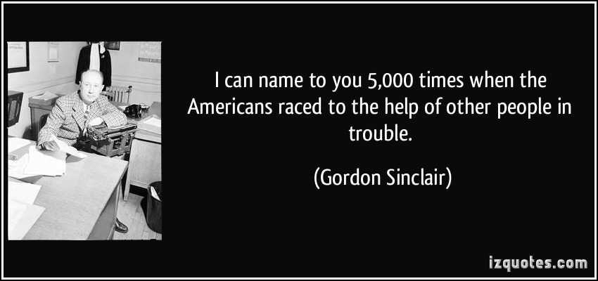Gordon Sinclair's quote