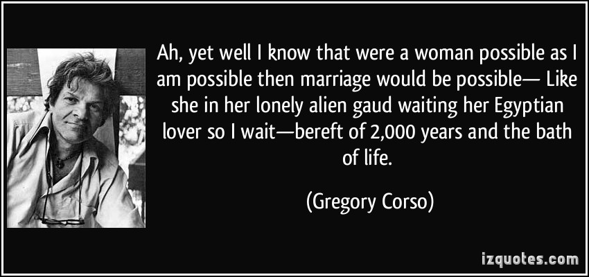Gregory Corso's quote #5