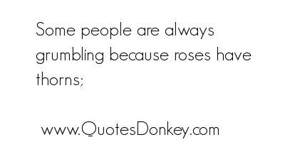 Grumbling quote #1