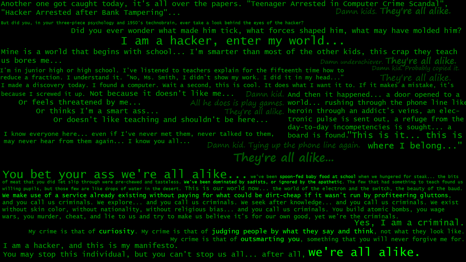 Hackers quote #2