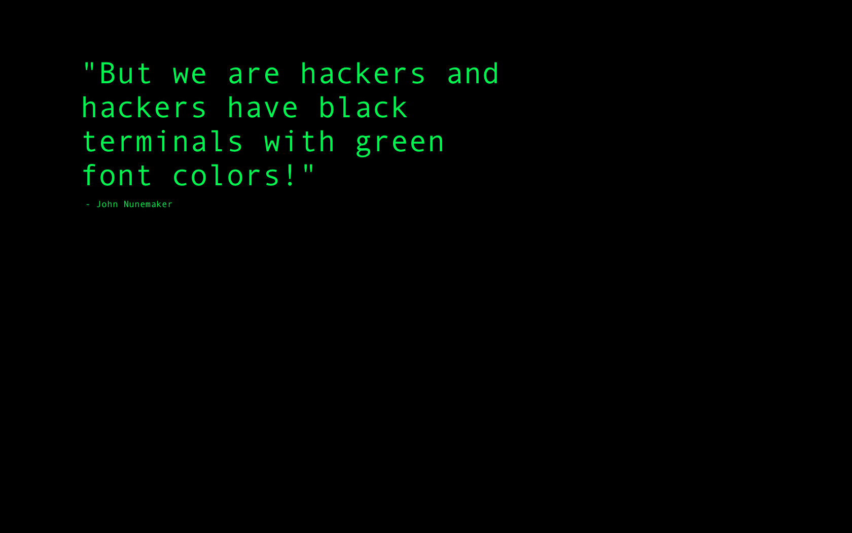 Hacking quote #1