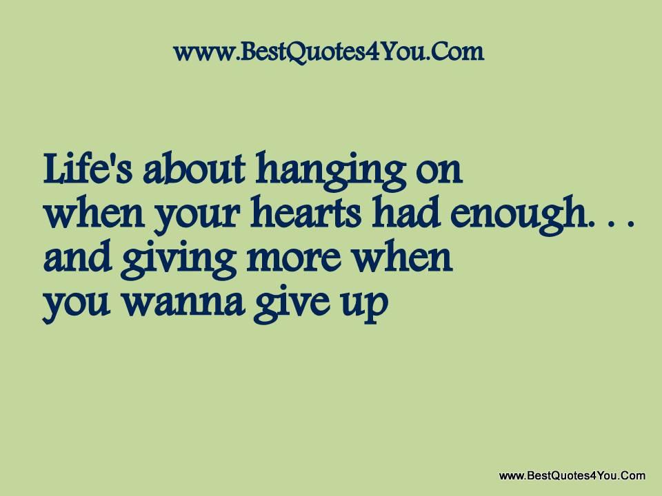 Had Enough quote #2