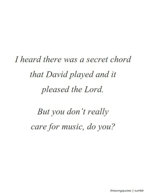 Hallelujah quote #1