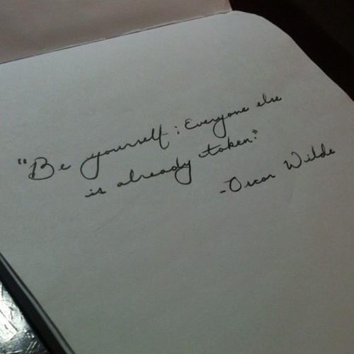 Handwriting quote #1
