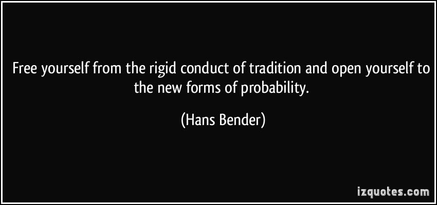 Hans Bender's quote