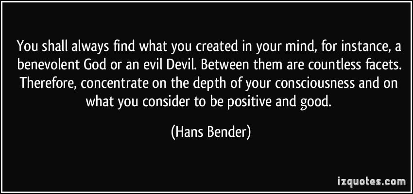Hans Bender's quote #3