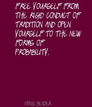 Hans Bender's quote #4