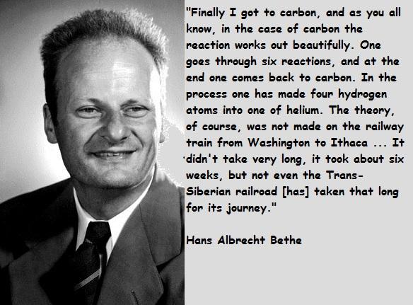 Hans Bethe's quote #1