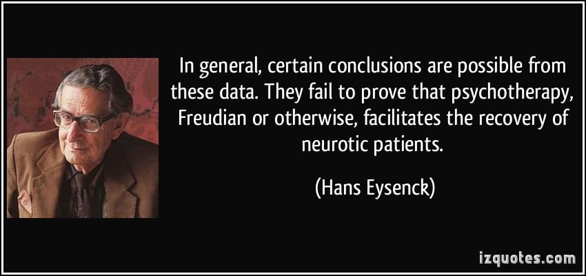 Hans Eysenck's quote #1