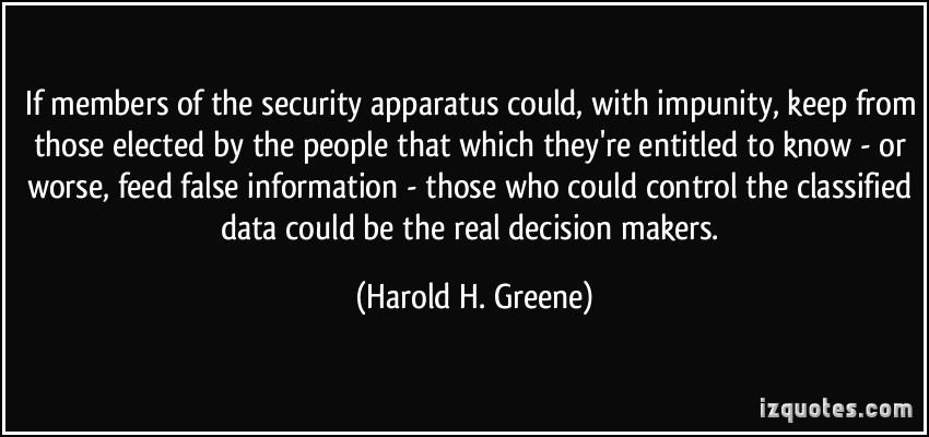 Harold H. Greene's quote #7