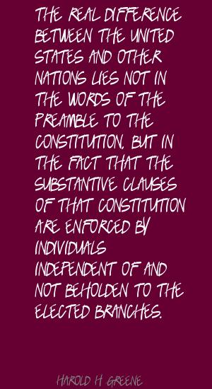 Harold H. Greene's quote #4