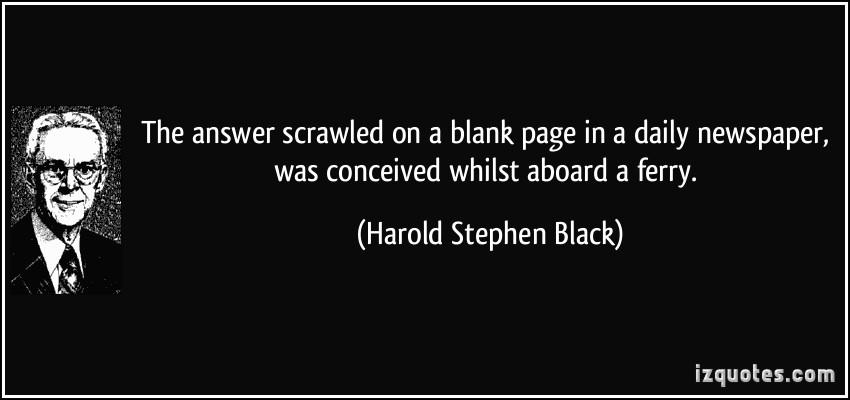 Harold Stephen Black's quote #1