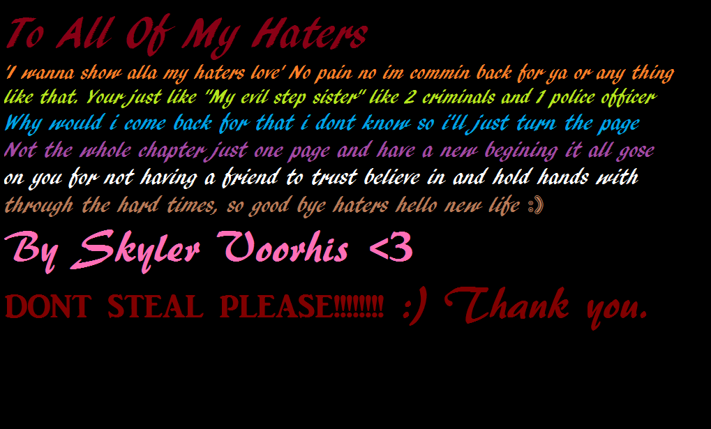 Hater quote #1