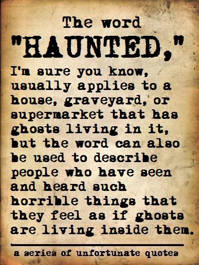 Haunted quote #1