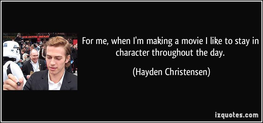 Hayden Christensen's quote #5