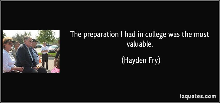 Hayden Fry's quote #8