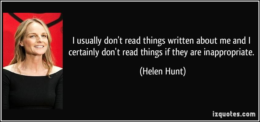 Helen Hunt's quote #4